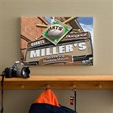 SF Giants MLB Personalized Pub Sign Canvas - 12x18 - 11485-S