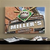 SF Giants MLB Personalized Pub Sign Canvas - 16x24 - 11485-M