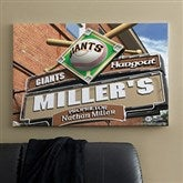 SF Giants MLB Personalized Pub Sign Canvas - 24x36 - 11485-L