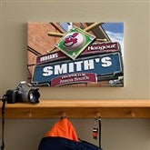 Cleveland Indians MLB Personalized Pub Sign Canvas - 12x18 - 11486-S