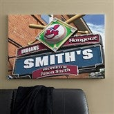 Cleveland Indians MLB Personalized Pub Sign Canvas - 24x36 - 11486-L