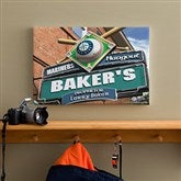 Seattle Mariners MLB Personalized Pub Sign Canvas - 12x18 - 11487-S