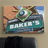 Seattle Mariners MLB Personalized Pub Sign Canvas - 24x36 - 11487-L
