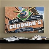 New York Mets MLB Personalized Pub Sign Canvas - 16x24 - 11490-M