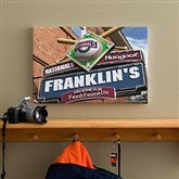 Washington Nationals MLB Personalized Pub Sign Canvas - 12x18 - 11491-S