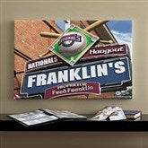 Washington Nationals MLB Personalized Pub Sign Canvas - 16x24 - 11491-M