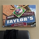 Philadelphia Phillies MLB Personalized Pub Sign Canvas - 24x36 - 11494-L