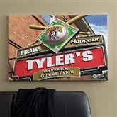 Pittsburgh Pirates MLB Personalized Pub Sign Canvas - 24x36 - 11495-L