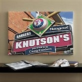 Texas Rangers MLB Personalized Pub Sign Canvas - 16x24 - 11496-M