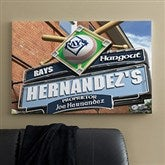 Tampa Bay Rays MLB Personalized Pub Sign Canvas - 24x36 - 11497-L