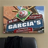 Boston Red Sox MLB Personalized Pub Sign Canvas - 24x36 - 11498-L