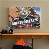 Cincinnati Reds MLB Personalized Pub Sign Canvas - 12x18 - 11503-S