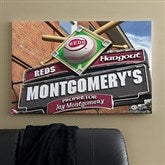 Cincinnati Reds MLB Personalized Pub Sign Canvas - 24x36 - 11503-L
