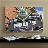 Colorado Rockies MLB Personalized Pub Sign Canvas - 16x24 - 11505-M