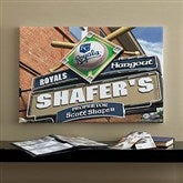 Kansas City Royals MLB Personalized Pub Sign Canvas - 16x24 - 11506-M