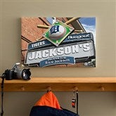 Detroit Tigers MLB Personalized Pub Sign Canvas - 12x18 - 11507-S