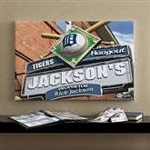 Detroit Tigers MLB Personalized Pub Sign Canvas - 16x24 - 11507-M