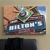 Minnesota Twins MLB Personalized Pub Sign Canvas - 24x36 - 11508-L