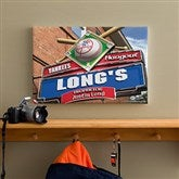 New York Yankees MLB Personalized Pub Sign Canvas - 12x18 - 11510-S