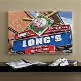 New York Yankees MLB Personalized Pub Sign Canvas - 16x24 - 11510-M