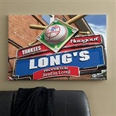 New York Yankees MLB Personalized Pub Sign Canvas - 24x36 - 11510-L
