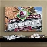 LA Angels MLB Personalized Pub Sign Canvas - 16x24 - 11513-M