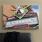 LA Angels MLB Personalized Pub Sign Canvas - 24x36 - 11513-L