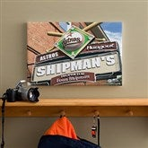 Houston Astros MLB Personalized Pub Sign Canvas - 12x18 - 11514-S