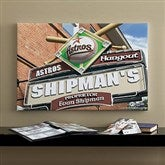 Houston Astros MLB Personalized Pub Sign Canvas - 16x24 - 11514-M