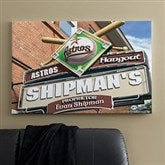 Houston Astros MLB Personalized Pub Sign Canvas - 24x36 - 11514-L