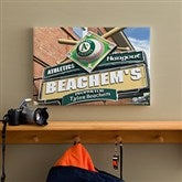 Oakland A's MLB Personalized Pub Sign Canvas - 12x18 - 11515-S
