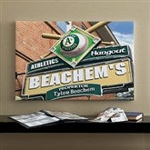 Oakland A's MLB Personalized Pub Sign Canvas - 16x24 - 11515-M