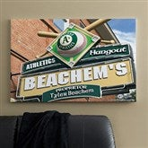 Oakland A's MLB Personalized Pub Sign Canvas - 24x36 - 11515-L