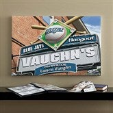 Toronto Blue Jays MLB Personalized Pub Sign Canvas - 16x24 - 11516-M
