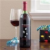 Personalized Graduation Wine Art-Design Grad Hats - 11520D-A