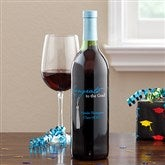 Personalized Graduation Wine Art-Design Congrats Tassel - 11520D-B