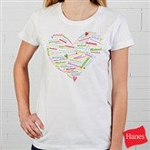 Her Heart of Love Personalized T-Shirt - 11522-T