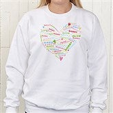 Her Heart of Love© Personalized White Sweatshirt - 11522-WS
