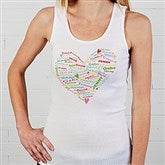 Her Heart of Love Personalized White Tank - 11522-WT
