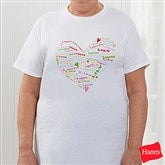 Her Heart of Love Personalized Hanes® T-Shirt - 11522-T