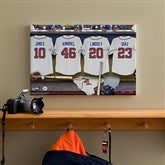 Atlanta Braves MLB Personalized Locker Room Canvas- 12x18 - 11532-S
