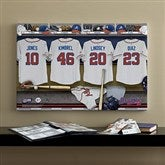 Atlanta Braves MLB Personalized Locker Room Canvas- 16x24 - 11532-M