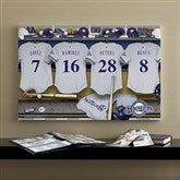 Milwaukee Brewers MLB Personalized Locker Room Canvas- 16x24 - 11533-M