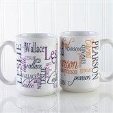Signature Style Personalized Coffee Mug 15 oz.- White - 11539-L