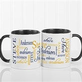 Signature Style Personalized Coffee Mug 11oz.- Black - 11539-B