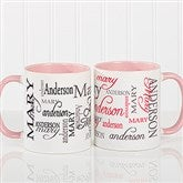 Signature Style Personalized Coffee Mug 11 oz.- Pink - 11539-P