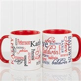 Signature Style Personalized Coffee Mug 11 oz.- Red - 11539-R