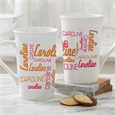 Signature Style Personalized Latte Mug 16 oz.- White - 11539-U