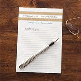 Classy Stripes Personalized Notepad - 11543