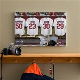 St. Louis Cardinals MLB Personalized Locker Room Canvas- 12x18 - 11549-S